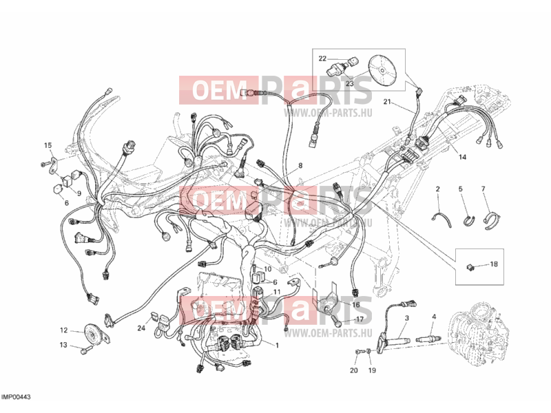 Ducati Superbike 1098 Wiring Harness  U00bb Wiring Harness Exploded Drawing  U0026gt  Oem