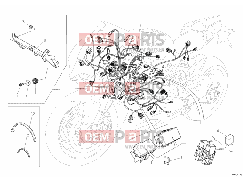 Ducati Superbike 1199 Panigale S ABS WIRING HARNESS » WIRING HARNESS  exploded drawing > oem-parts.huOem-parts.hu