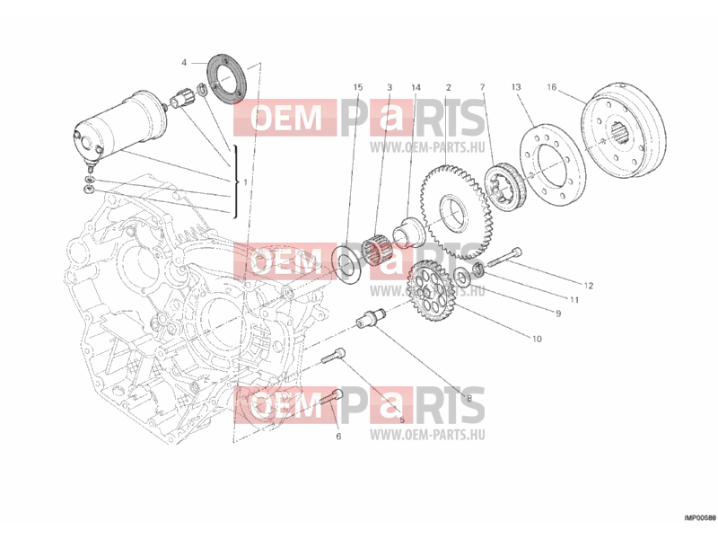 Ducati Hypermotard 796 STARTING MOTOR » ELECTRIC STARTER exploded drawing >  oem-parts.hu | Hypermotard 796 Engine Diagram Valve |  | Oem-parts.hu