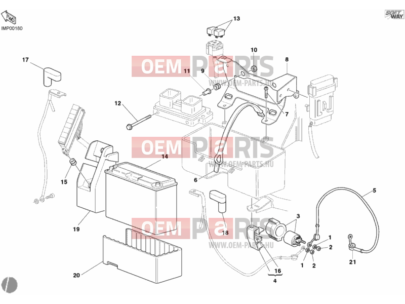 ducati supersport 800 ss battery » wiring harness exploded drawing >  oem-parts.hu  oem-parts.hu