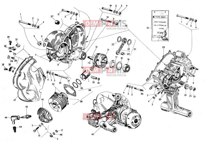 Paraolio Motore 62x20x6,5 Vespa 125 VNA2T VNB1T VNB2T VNB3T VNB4T VNB5T VNB6T